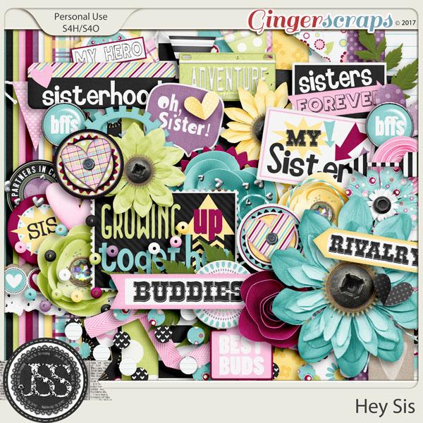 Hey Sis Digital Scrapbook Kit