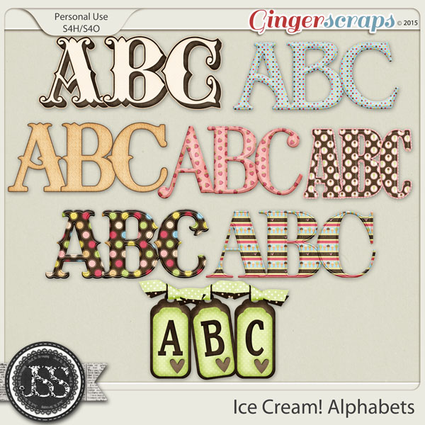 Ice Cream Alphabets