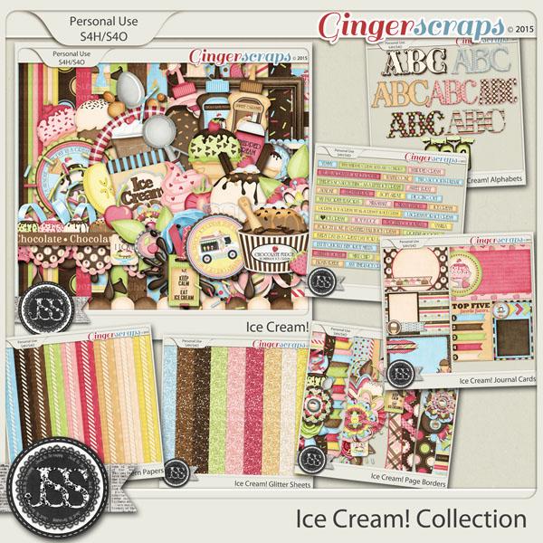 Ice Cream Digital Scrapbook Bundle