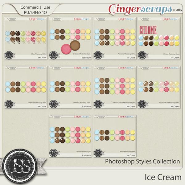Ice Cream CU Photoshop Styles Bundle