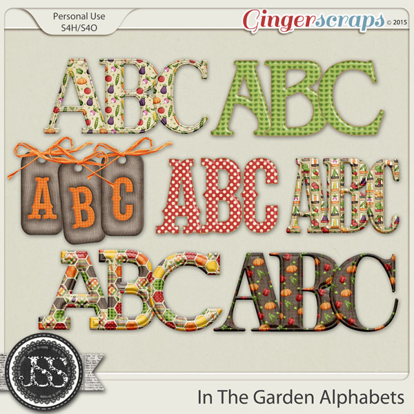 In The Garden Alphabets