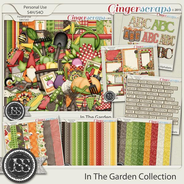 In The Garden Digital Scrapbook Bundle