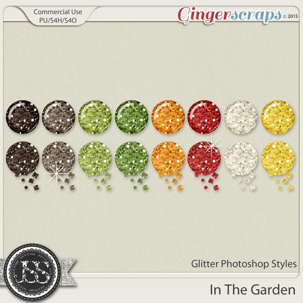 In The Garden Glitter Photoshop Styles