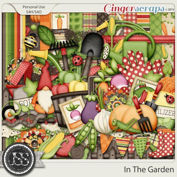 In The Garden Digital Scrapbook Kit