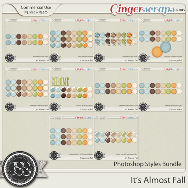 It's Almost Fall CU Photoshop Styles Bundle