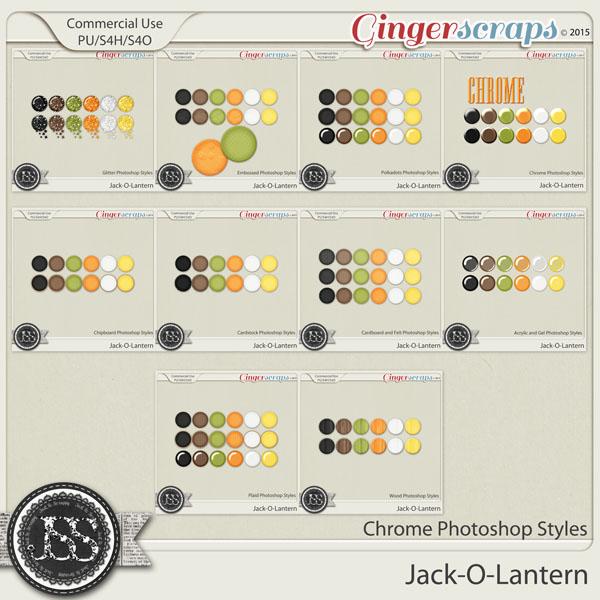Jack O Lantern Photoshop Styles Bundle