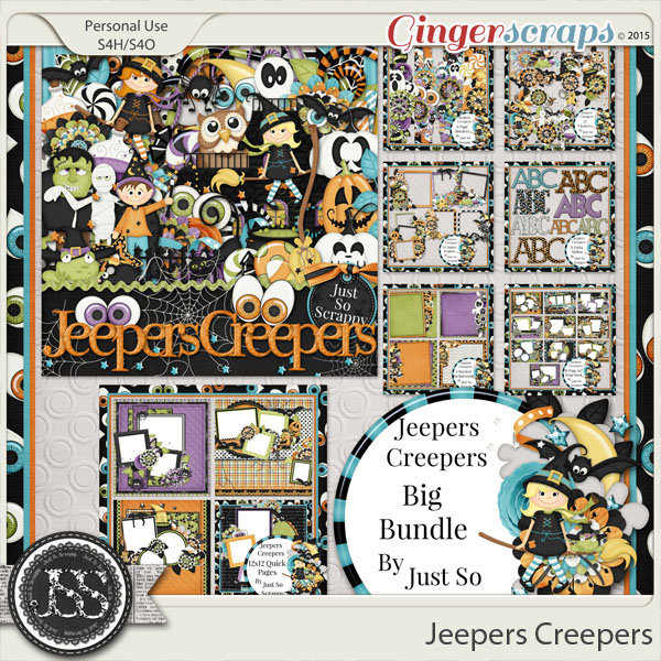 Jeepers Creepers Digital Scrapbooking Bundle