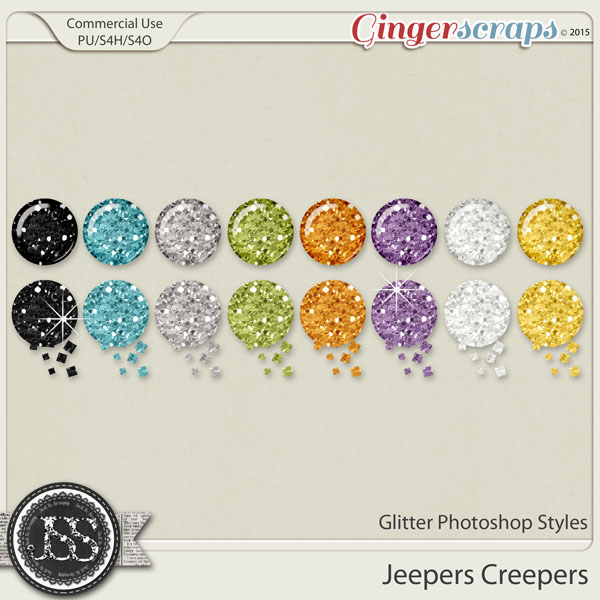 Jeepers Creepers Glitter Photoshop Styles
