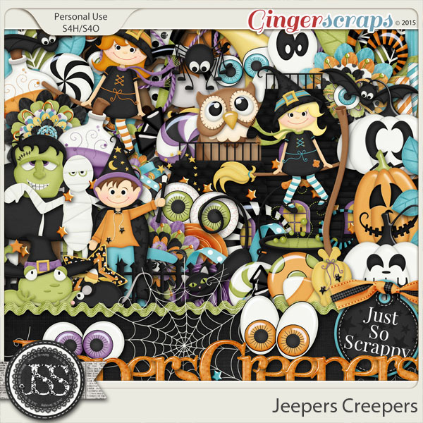 Jeepers Creepers Digital Scrapbooking Kit