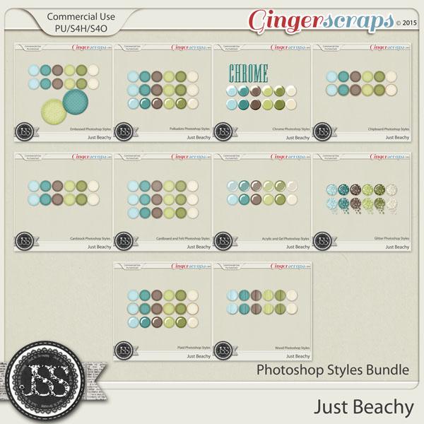 Just Beachy CU Photoshop Styles Bundle
