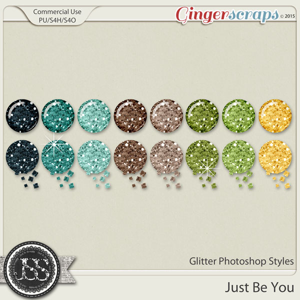 Just Be You Glitter Photoshop Styles