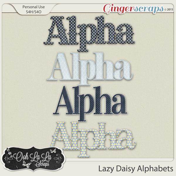 Lazy Daisy Alphabets