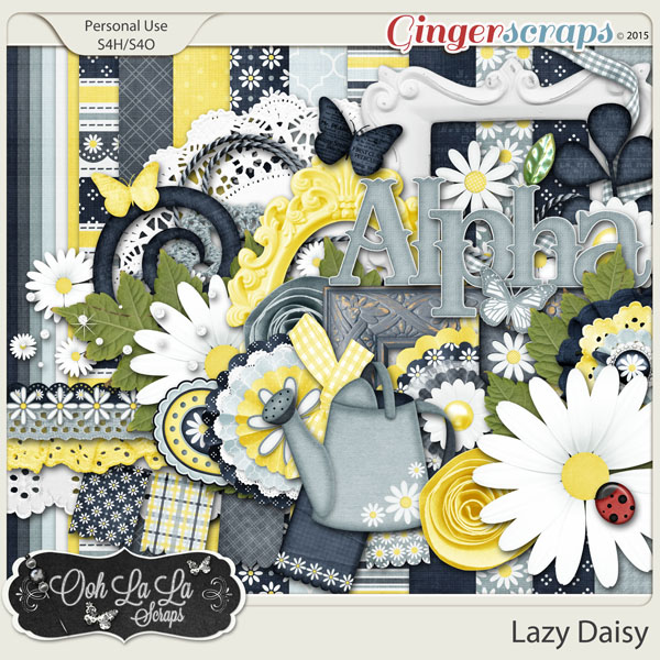 Lazy Daisy Digital Scrapbook Kit