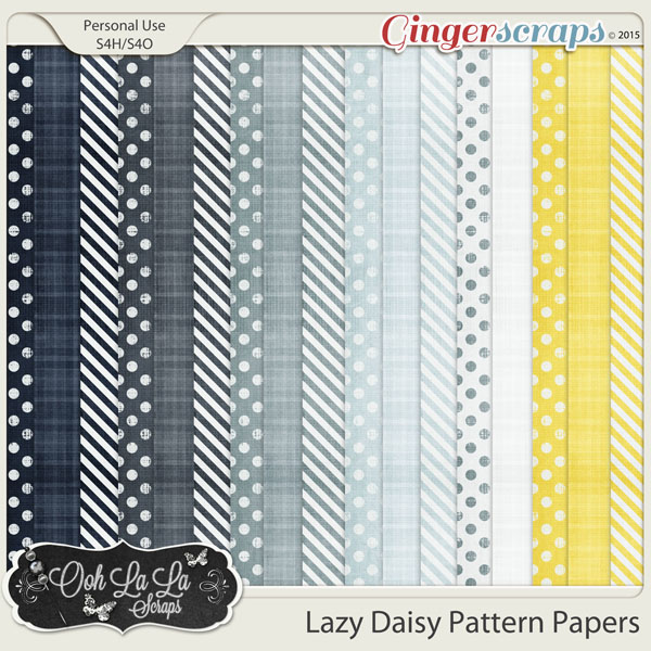 Lazy Daisy Pattern Papers