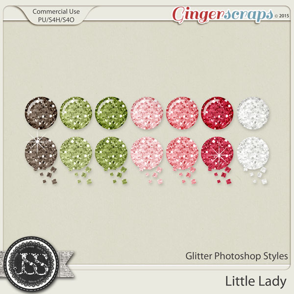 Little Lady Glitter Photoshop Styles