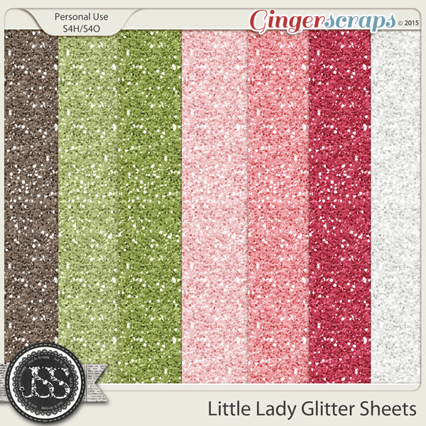 Little Lady 12x12 Glitter Sheets