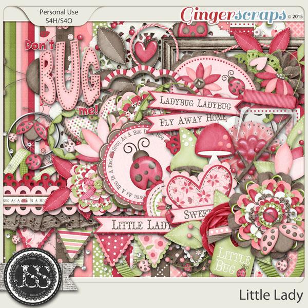Little Lady Digital Scrapbooking Kit