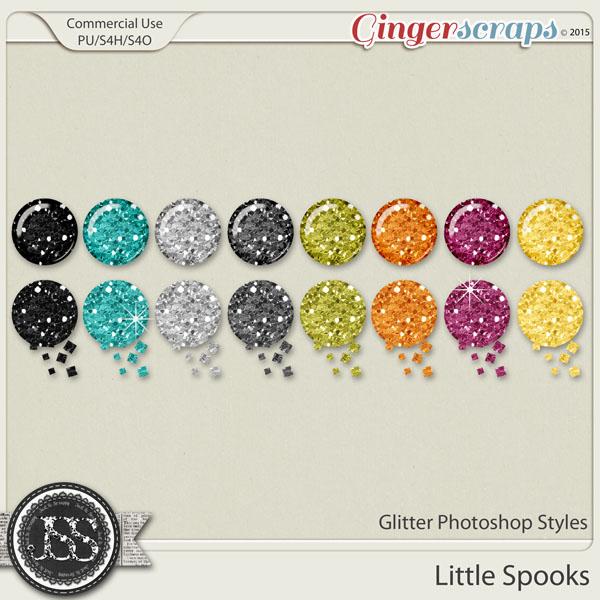 Little Spooks CU Glitter Photoshop Styles