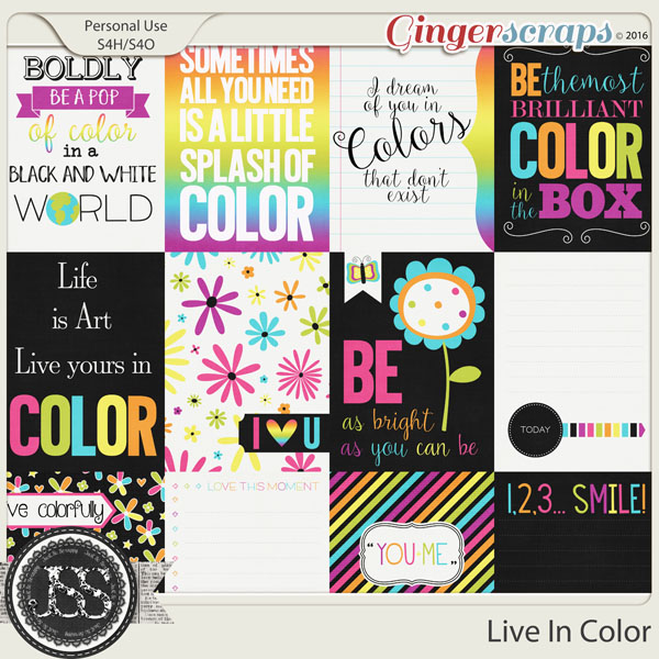 Live In Color Journal and Pocket Scrap Cards