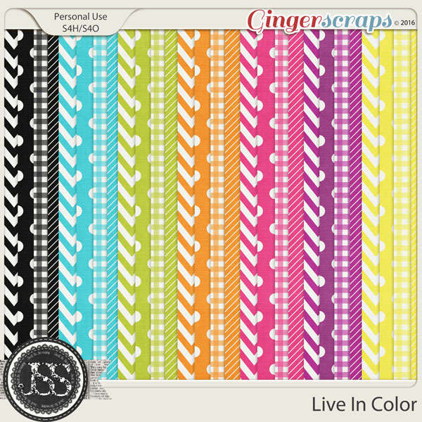 Live In Color Pattern Papers