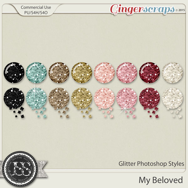 My Beloved Glitter Photoshop Styles