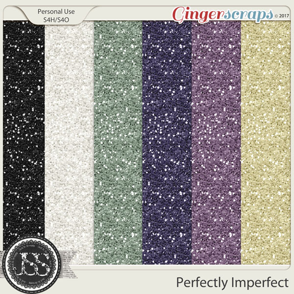 Perfectly Imperfect 12x12 Glitter Papers