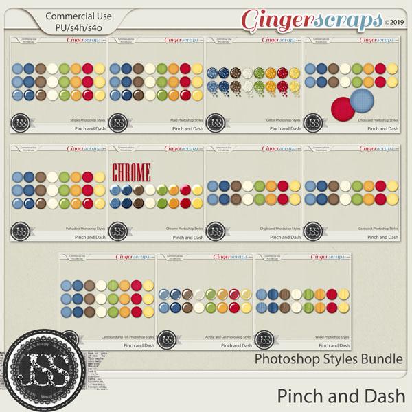 A Pinch and A Dash CU Photoshop Styles Bundle