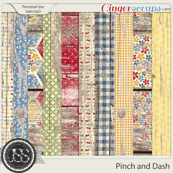 A Pinch and A Dash Worn Wood Papers