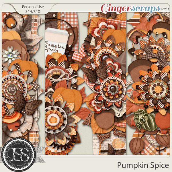 Pumpkin Spice Page Borders