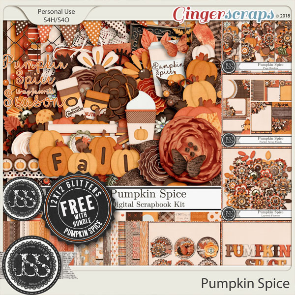 Pumpkin Spice Digital Scrapbook Bundle