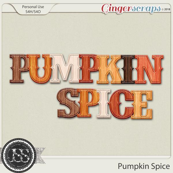Pumpkin Spice Alphabets
