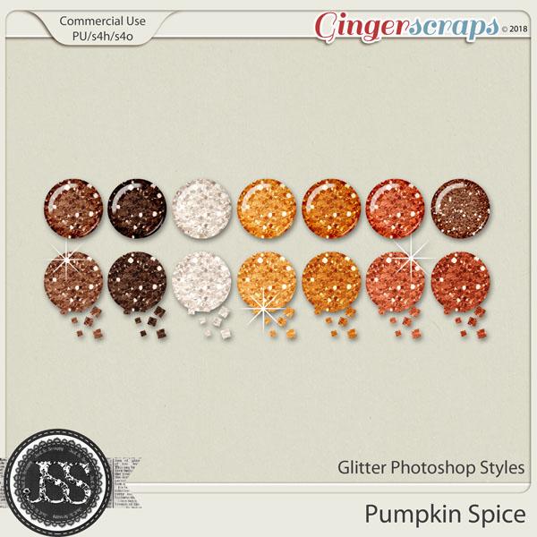 Pumpkin Spice Glitter CU Photoshop Styles