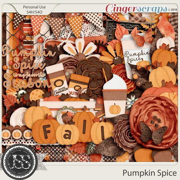 Pumpkin Spice Digital Scrapbook Kit