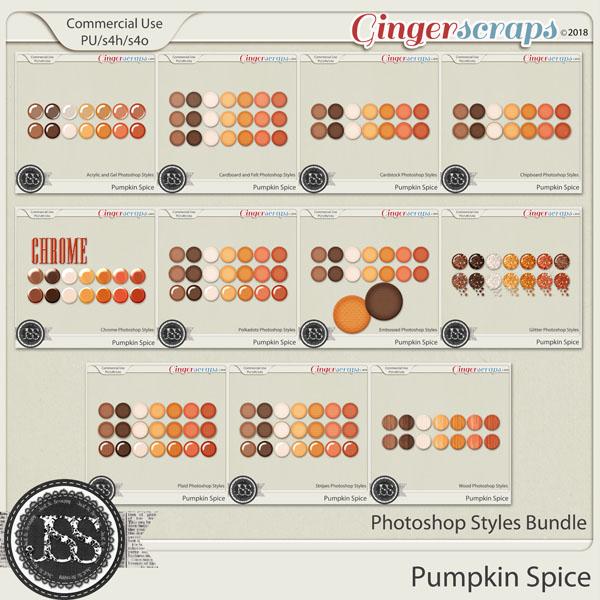 Pumpkin Spice CU Photoshop Styles Bundle