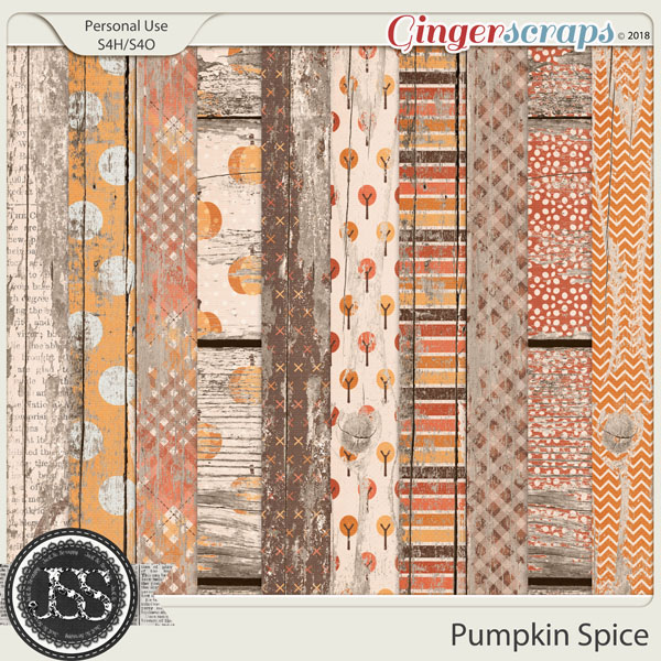 Pumpkin Spice Worn Wood Papers