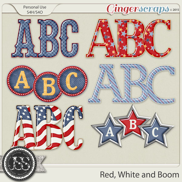 Red White and Boom Alphabets
