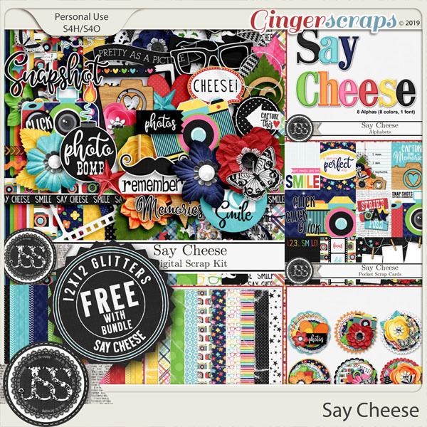 Say Cheese Digital Scrapbook Bundle