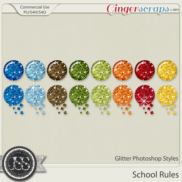 School Rules Glitter Photoshop Styles