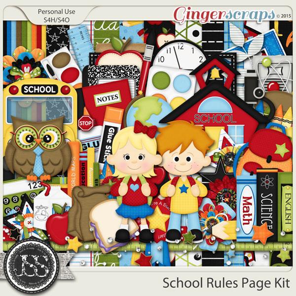 School Rules Digital Scrapbooking Kit