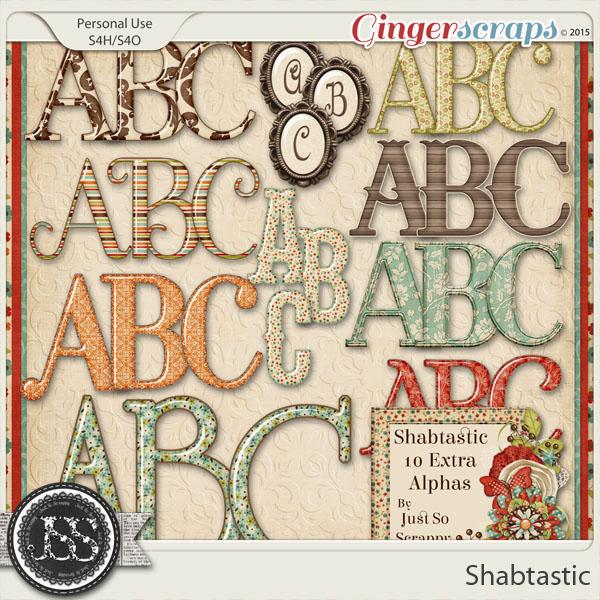Shabtastic Alphabets