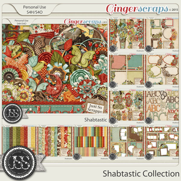 Shabtastic Digital Scrapbooking Bundle