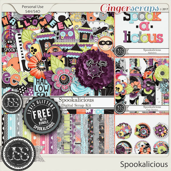 Spookalicious Digital Scrapbook Bundle
