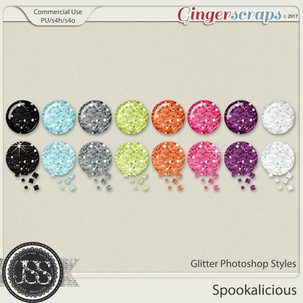 Spookalicious CU Glitter Photoshop Styles