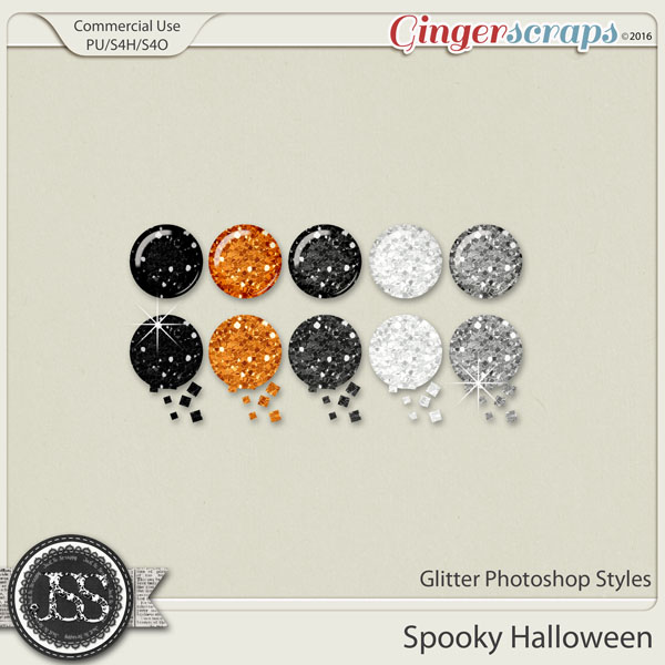 Spooky Halloween Glitter CU Photoshop Styles