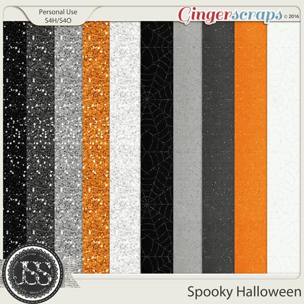 Spooky Halloween Glitter Papers