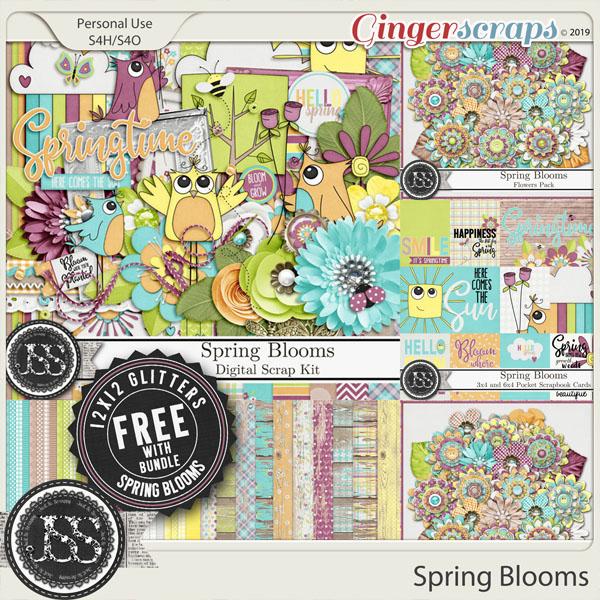 Spring Blooms Digital Scrapbook Bundle