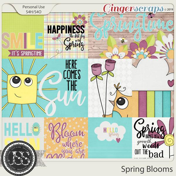 Spring Blooms Pocket Scrapbook Cards
