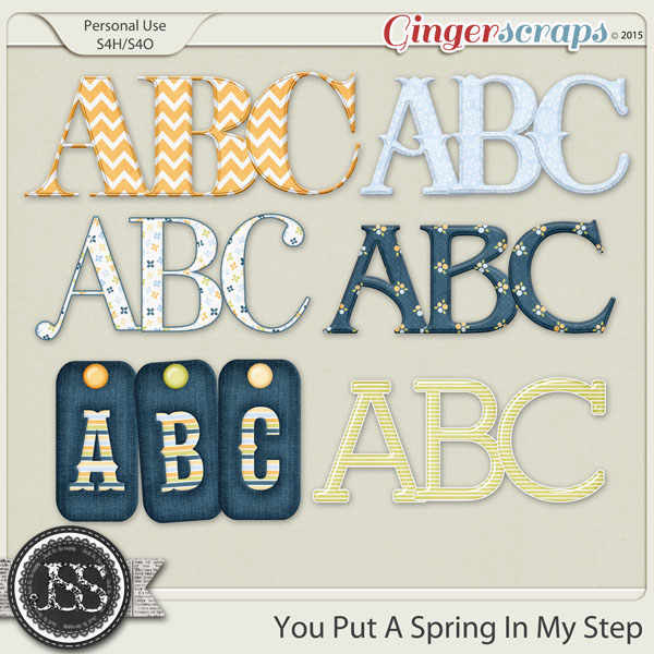 You Put A Spring In My Step Alphabets