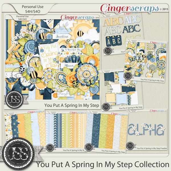 You Put A Spring In My Step Digital Scrapbook Bundle