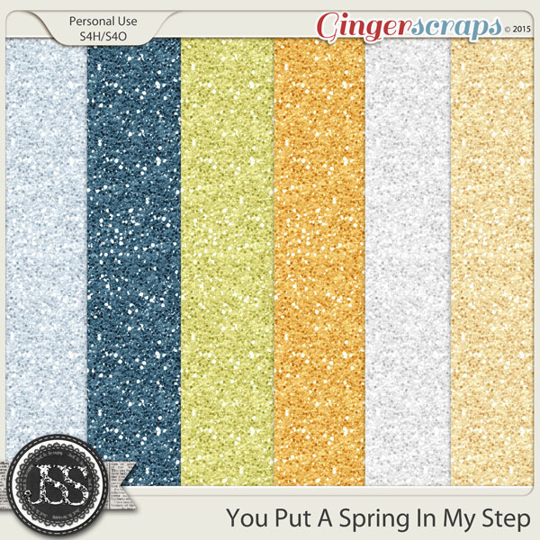 You Put A Spring In My Step Glitter Sheets
